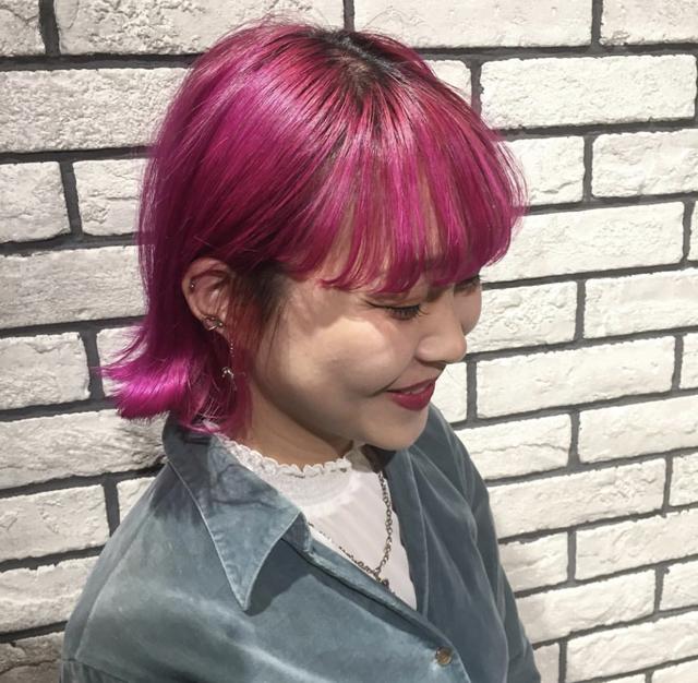 ヘアカラー(ピンク)