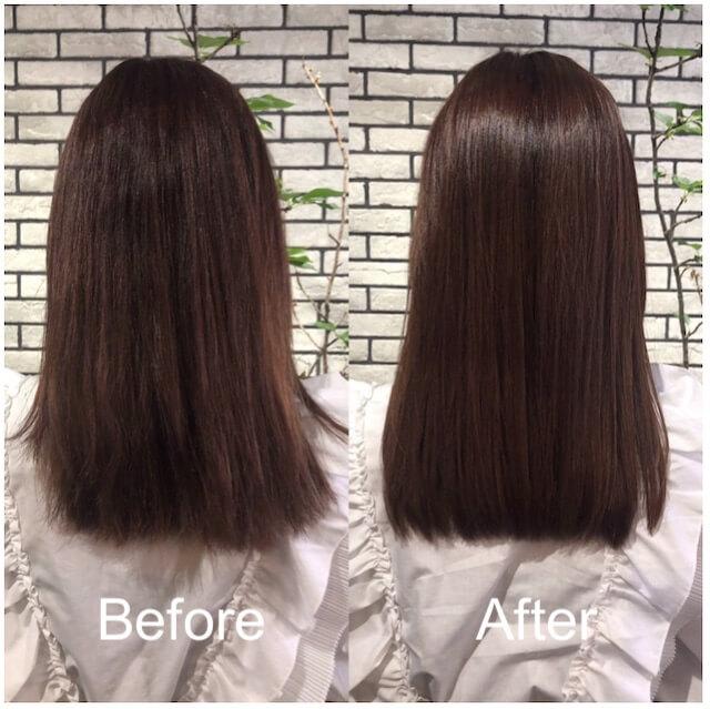 髪質改善「リューレント」ビフォーアフター例1