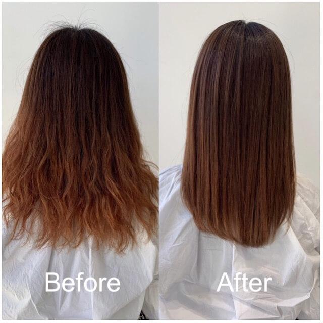 髪質改善「リューレント」ビフォーアフター例2