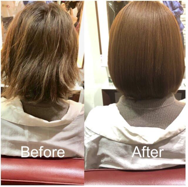 髪質改善「リューレント」ビフォーアフター例3