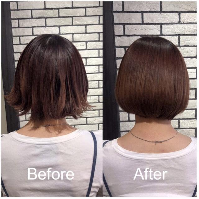 髪質改善「リューレント」ビフォーアフター例4